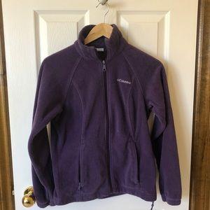 Columbia Purple Zip Up Fleece